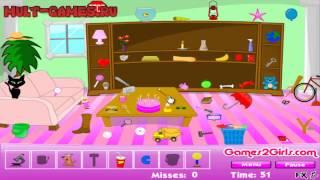Онлайн игры Поиск предметов Разгром в комнате