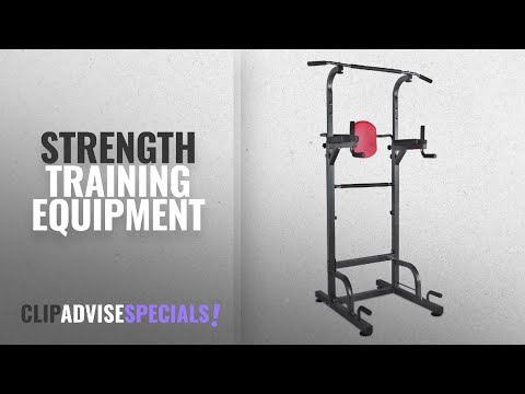 10 Best Strength Training Equipment : RELIFE REBUILD YOUR LIFE Power Tower Workout Dip Station For