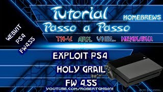[PS4 4.55] - EXPLOIT HOLY GRAIL & DEBUG SETTINGS COMPLETO