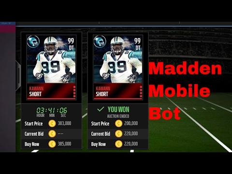 Madden Mobile or NBA Live Mobile Bot! No jailbreak(iOS)