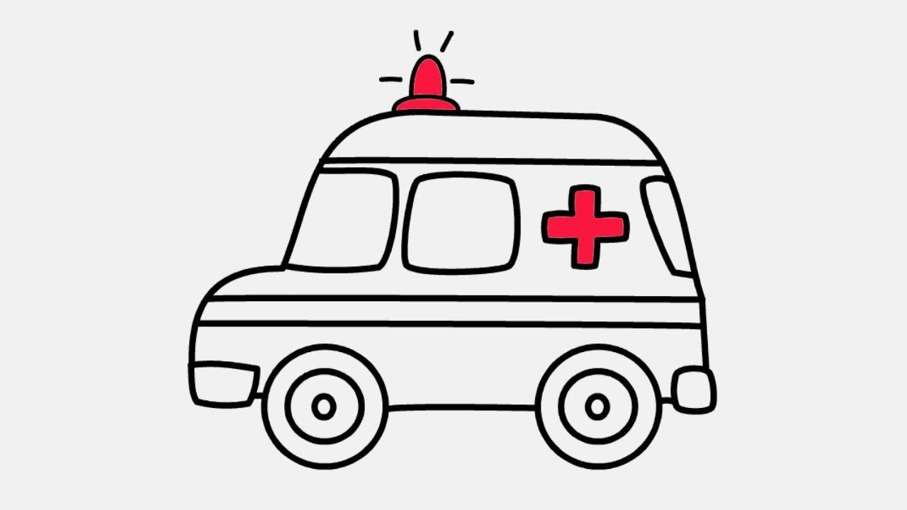 How to Draw Ambulance Coloring Page | Ambulance Drawing and Coloring ...