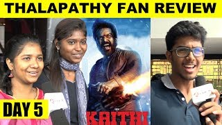 Day 5 : Vijay Fan Review For Kaithi