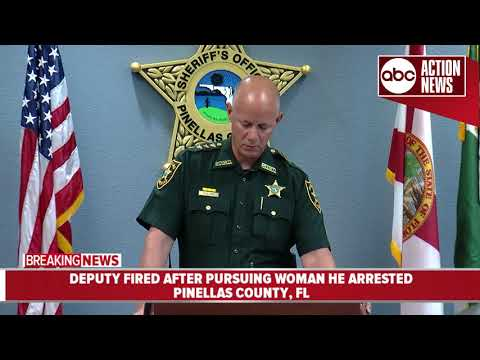 Pinellas County Sheriff fires deputy after investigation reveals he pursued woman he arrested