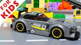 Lego Cars and Trucks Compilation . Garage for building cars