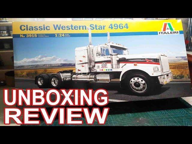Распаковка и обзор сборной модели  Western Star 4964 Italeri 1:35