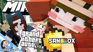 사기꾼 도숭이와의 추격전!! [마인크래프트 GTA: 도숭이와 화물 수송] - Minecraft GTA - [잠뜰]