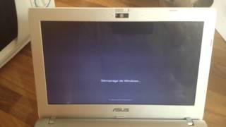 ASUS EeePC 1225B : entrer le système d'exploitation via un démarrage rapide
