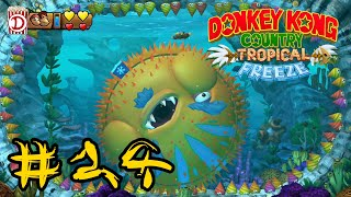 Kugelfisch & Walzen | Let's Play Donkey Kong Country Tropical Freeze 100% #24 | Switch | Deutsch