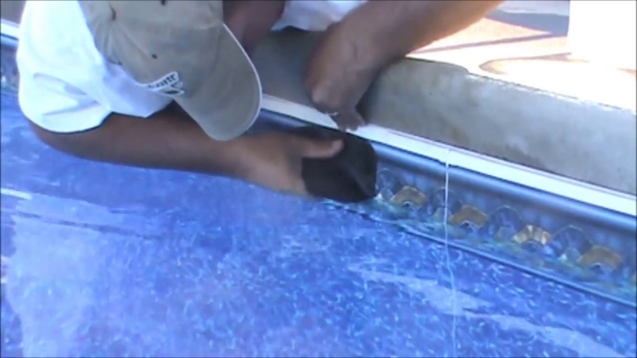 How To Get Your Vinyl Pool Liner Back In The Track Youtube