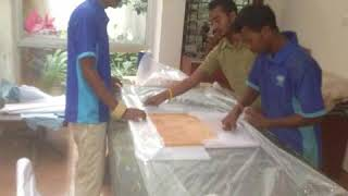 The Indian Famous Cricketer Rahul Dravid's House Shifting in Bangalore