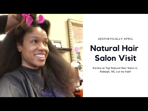 Natural Hair Salon Visit| Taji's Natural Hair Salon| Hair Vlog #naturalhair #naturalhairsalon