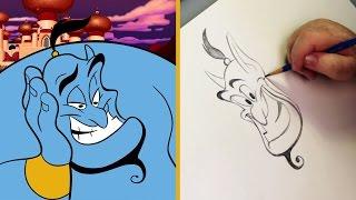 Draw Genie from Aladdin | Sketchbook by Oh My Disney