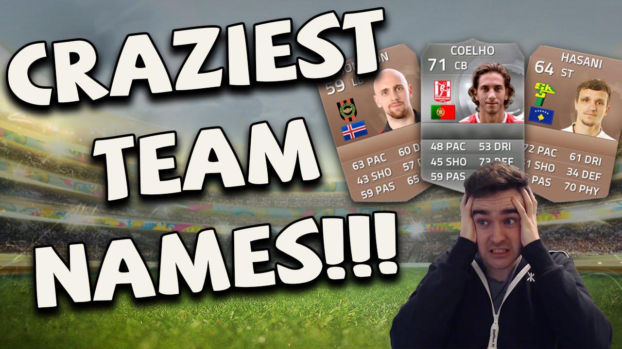 Best/Worst Ultimate Team names? : FIFA - reddit