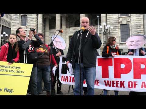 Anti-Trans Pacific Partnership Agreement (TPPA) rally, Wellington, 15 August 2015