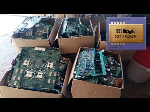 E-WASTE for gold recovery & depopulation advice!