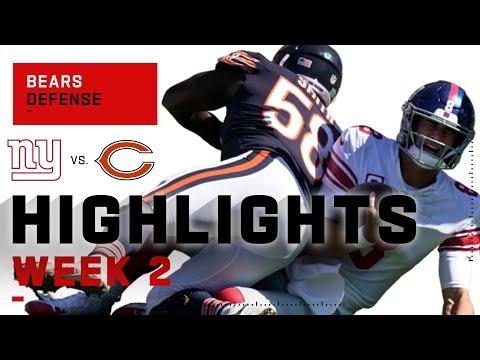 Bears Defense Crushes Giants w/ 4 Sacks | NFL 2020 Highlights
