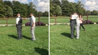 Man Surprises Best Friend At His Wedding