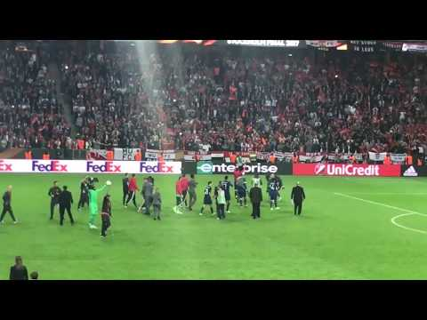 Manchester United Celebration After Winning Europa League