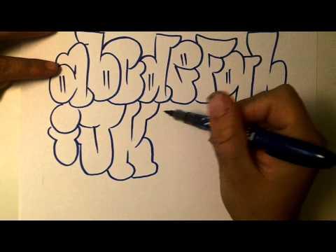 How2art How To Draw Graffiti Alphabet Throwies