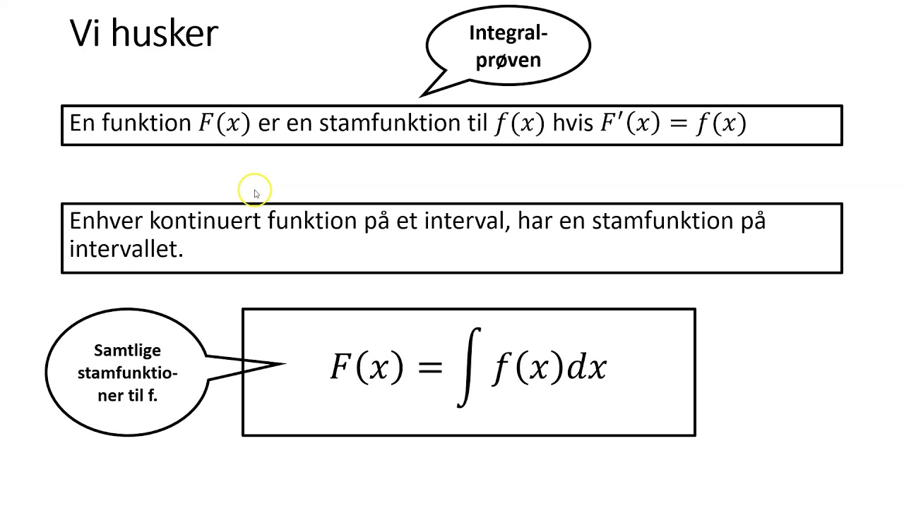 Integralregning 3a   det ubestemte integral 1