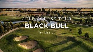 Flyover of Black Bull Golf Course, The Murray, Victoria, Australia