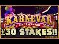 Karneval £30 Fortune Spins BIG GAMBLES!!