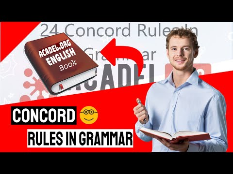 24 Concord Rules In Grammar   Everything You Need To Know With Examples #EnglishLessons #concord