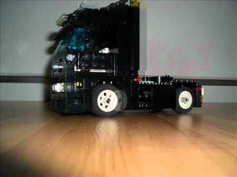 lego mercedes benz actros black edition youtube. Black Bedroom Furniture Sets. Home Design Ideas