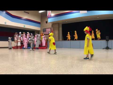 Theiss Elementary School | Kindergarten Farm Musical Program 2017 | Song 4