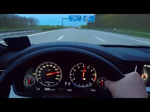 BMW M5 Onboard Acceleration Autobahn F10 V8 Sound Driver View M5 F10