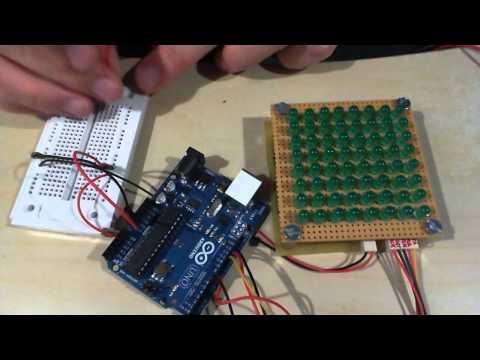 DIY 8x8-LED-Matrix with Arduino