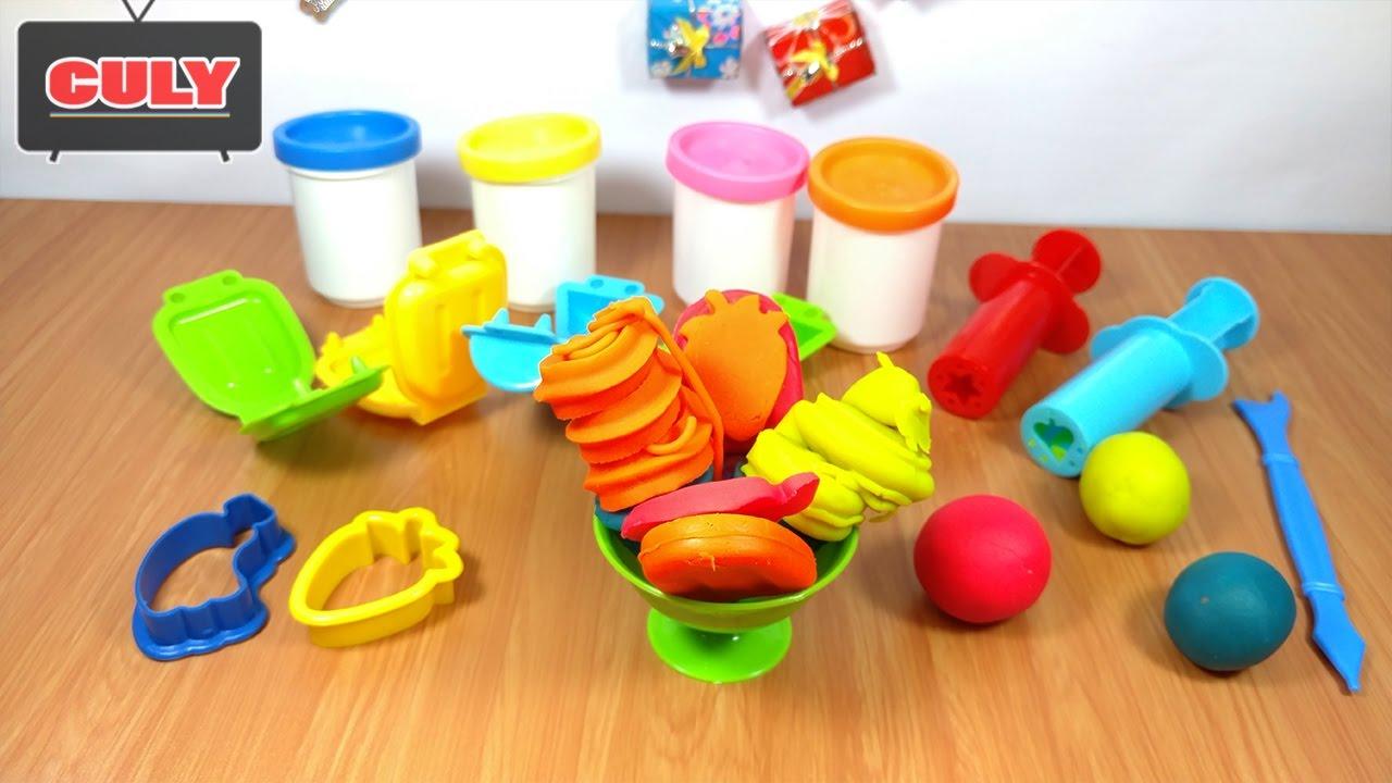 Đồ chơi làm kem bằng đất nặn play doh toy for kid make ice cream ...