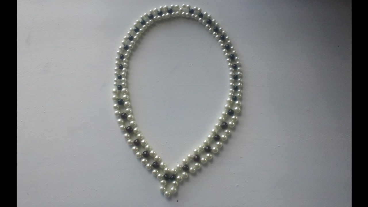 3254c7aec947 Como hacer un collar de perlas paso a paso - YouTube