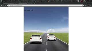 A neural network driving a car