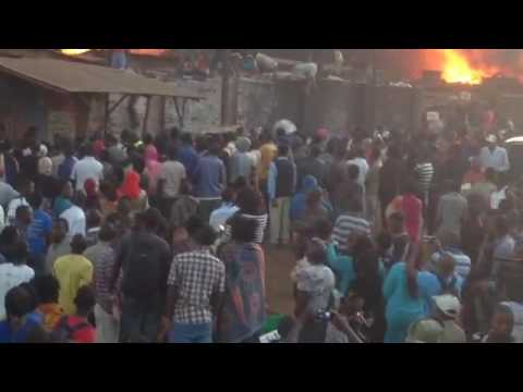 2016 09 23 VIDEO lilongwe market on fire