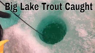 FIGHTING BIG Lake Trout Live!