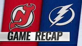 Lightning score eight in rout of Devils