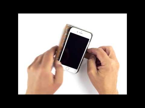 Nic & Mel Andrew Bookcase iPhone 7 Cognac