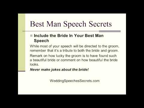How To Write Your Funny Best Man Speech - 6 Secrets For Amazing Best Man Speeches