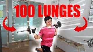 My Fitness Journey | Episode 5 - 100 20kg Lunges Challenge for the 1st time