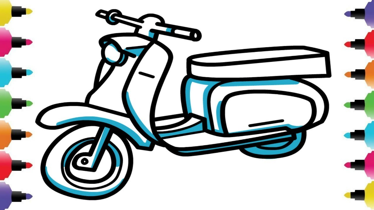 This is a picture of Sassy Bike Drawing Simple