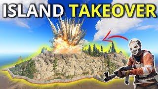 I TOOK OVER A WHOLE ISLAND! RAIDING EVERYONE ON IT! - Rust Survival 4.5/4
