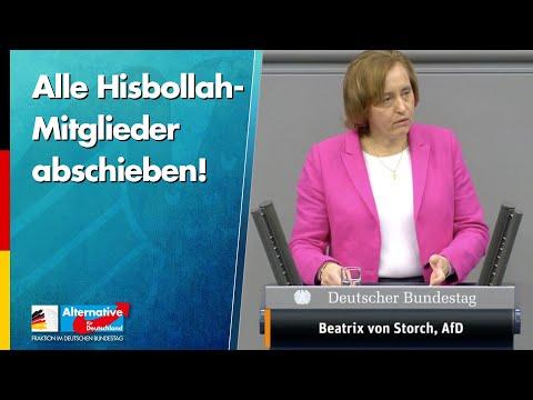 Alle Hisbollah-Mitglieder abschieben! - Beatrix von Storch - AfD-Fraktion im Bundestag