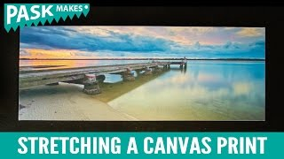 Stretching a Canvas Print