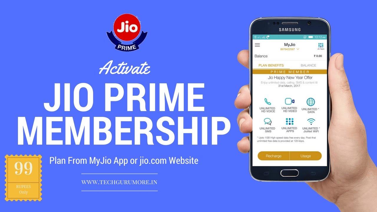 Activate JIO PRIME Membership Plan From MyJio App or jio com website (Quick  Tutorial)
