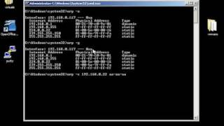 Windows command line networking: arp, getmac