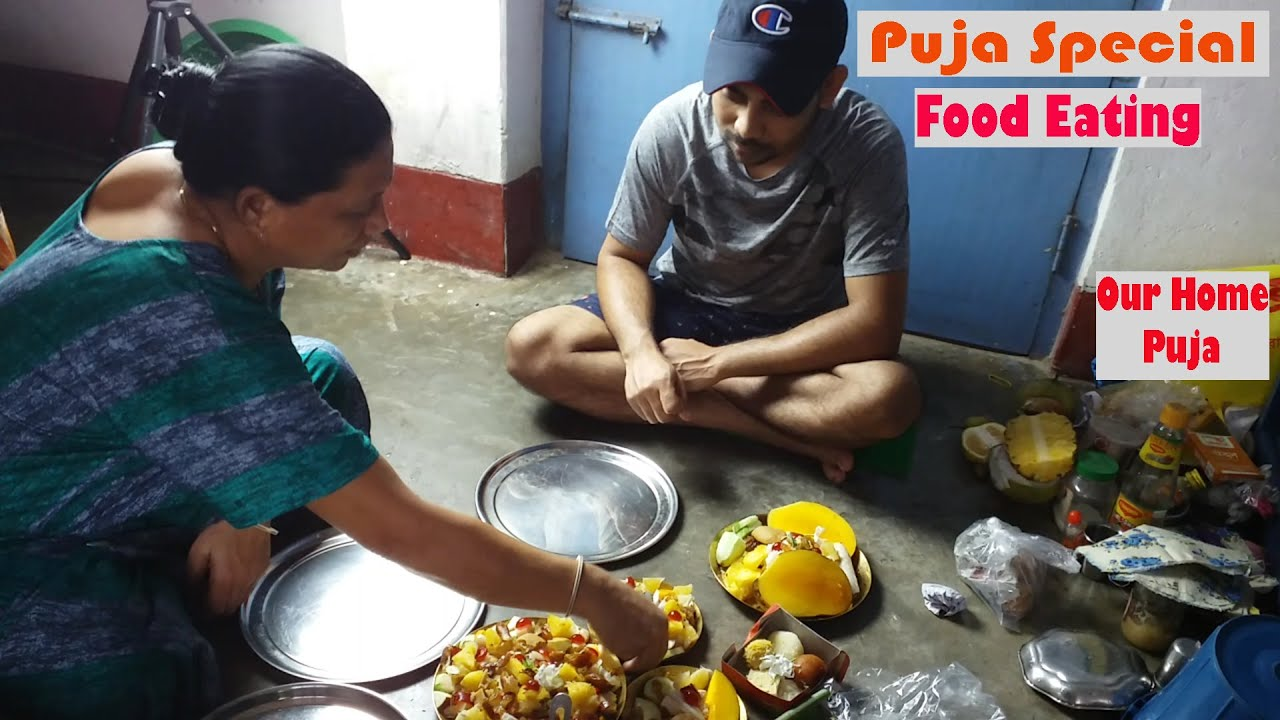 Puja Special and Food Eating Mukbang