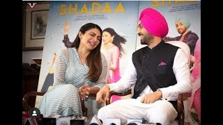 Punjabi-singer turned actor diljit dosanjh and neeru bajwa came to delhi for promoting their upcoming romantic comedy movie shadaa. the press conference was ...