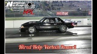 Hired Help Vortech powered Mustang vs Turbo Cobra at No Prep Kings 2 thumbnail