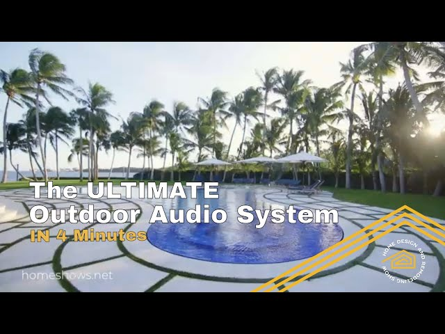 The Best Outdoor Home Automation, Speakers and Lifestyle | QUICK TIP